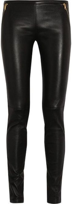 Emilio Pucci Stretch Leather Skinnies-edited by ShazB to remove ugly vertical lines - original pin via lyst