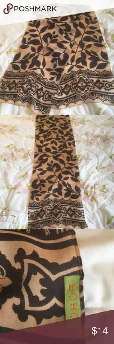 """Ecco Silk Scarf Size 12"""" 52"""" good using condition Silk Scarf. From smoke free home. Make me an offer Ecco Accessories"""