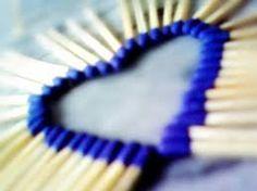 Heart made from match sticks