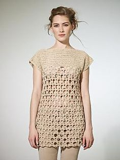 This lovely crochet, open work tunic is a must have for Spring/Summer in the beautiful yarn Savannah. This is the Row@n members exclusive pattern for May 2012.