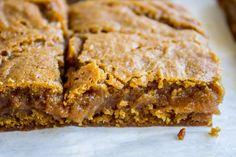 Fudgy Pumpkin Caramel Swirl Bars - The Food Charlatan