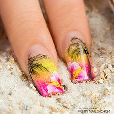 summer nail art designs that you will love - page 3 of 3 Spring Nail Art, Spring Nails, Summer Nails, Nail Art Designs, Cruise Nails, Airbrush Nails, Beach Nails, Nailart, Flower Nails