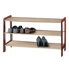 Michael Graves Wood Shoe Rack.Opens in a new window