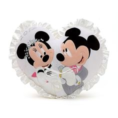 Mickey and Minnie Mouse Wedding Cushion. Great for rings at a disney wedding