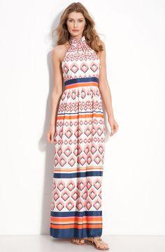 plus size orange and navy dress