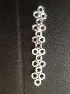 DIY Hex Nut Industrial Bracelet