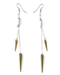 Antique Bronze Spike Earrings