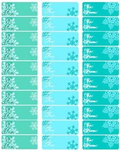 Free printable snowflake Christmas gift tags