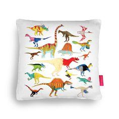 Dinosaurs! Cushion  #giftsideasforhim #giftsformen #cushion #home #dinosaurs #interiors #batchelorpad