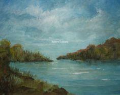 Original Acrylic Landscape original painting by FlowerFineArt