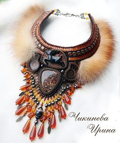 Beautiful and original jewelry with fur Click on link to see more jewelry - http://beadsmagic.com/?p=7584