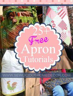 Over 25 Free Apron Patterns and Tutorials at sewlicioushomedecor.com