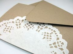 doily wrapped card