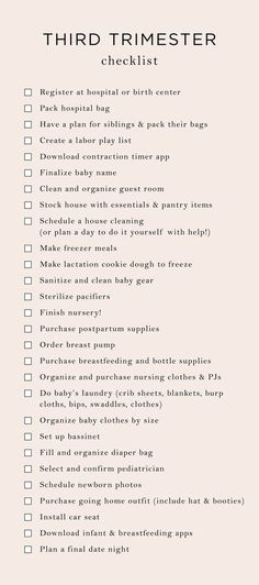 Everything On My 3rd Trimester To-Do List | The Mama Notes #thirdtrimester #pregnancy
