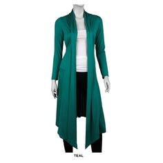 Long Open-Front Cardigan - Assorted Colors