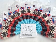 Large personalised pre filled SPIDERMAN birthday party sweet cones party bags