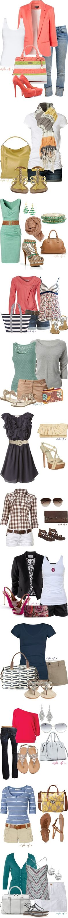 A lot of Cute outfit ideas on one page! I would wear these.