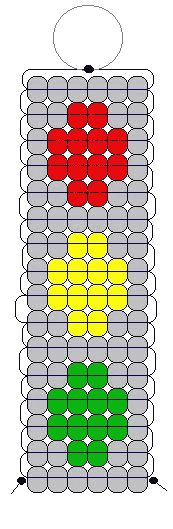 Stop Ligth pony bead pattern