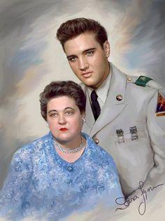 Elvis Presley and his Mother Gladys Presley. Lisa Marie Presley, Priscilla Presley, King Elvis Presley, Elvis Presley Family, Elvis Presley Young, Elvis Presley Pictures, Rock Poster, Young Elvis, Idole