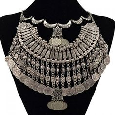 Classic Coin Shape Tassels Women's Necklace