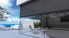 Panovista® van Renson® verduistering voor glas op glas hoekramen, verkrijgbaar bij smuk
