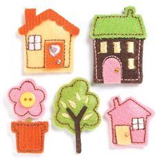 houses - flower - tree