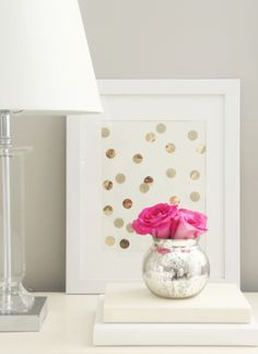 A Thoughtful Place: Giveaway Time | Gold Polka Dots, Anyone?