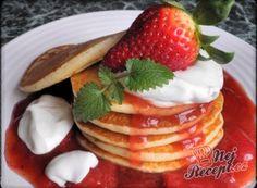 Nejlepší recepty na lívance   NejRecept.cz Kefir, Pancakes, Baking, Breakfast, Desserts, Pastries, Food, Drinks, Recipes