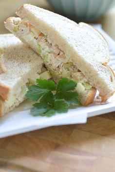 Apple & Celery Tuna Salad Sandwich - this is the best tuna salad sandwich | the makeshift nest
