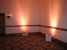 Diy uplighting weddingbee boards footnote better to get diy uplighting maybe use one of those clamp lights and make those white blocks with the heavy poster board place on a wood block for safety solutioingenieria Gallery
