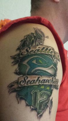 3d seahawk tattoo seahawks pinterest bird tattoos design and fans. Black Bedroom Furniture Sets. Home Design Ideas