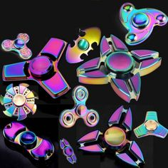 Colorful+EDC+Hand+Spinner+Finger+Spinner+Fidget+Gadget+Focus+Reduce+Stress+Gadget+Dazzle+Color+Crab+Triangle+Style