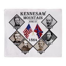 Kennesaw Mountain Throw Blanket  http://www.cafepress.com/Civil_War_1861_to_1865  http://www.cafepress.com/CivilWar1861to1865Part2  http://www.cafepress.com/USCivilWarColoredApparel