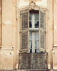 Provence Photography Print Rustic Window Photo Pastel Shabby Chic Decor French Country Wall Decor Wall Art Home Decor French Windows, Old Windows, Windows And Doors, French Balcony, French Doors, French Arch, European Windows, Timber Windows, French Country Wall Decor