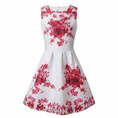 ZAY Women Porcelain Print Flare Sleeveless Vintage Floral Dress S 6009hong  BUY NOW     $16.99    ZAY Womens White Contrast Blue Porcelain Print Flare Sleeveless Vintage Floral Dress   Important Note: We Improve The Size Since 15/1/2017,Please Follow Our Size Lis ..
