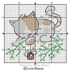Small Cross Stitch, Just Cross Stitch, Cross Stitch Cards, Cross Stitch Animals, Cross Stitch Designs, Cross Stitch Patterns, Cat Cross Stitches, Cross Stitching, Cross Stitch Embroidery