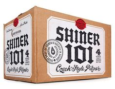 Since their anniversary, Shiner Beer (founded in has released a Commemorator Ale annually. The McGarrah Jessee agency has handled the incredible accompanying packaging, including the Shiner 101 Czech-style pilsner. Food Packaging Design, Beverage Packaging, Bottle Packaging, Coffee Packaging, Label Design, Box Design, Package Design, Graphic Design, Beer Images