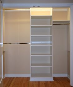 Reach In Closet Design Ideas modern reach in guest closet Basic Reach In Closet Modern Closet Organizers Chicago Closet Experts