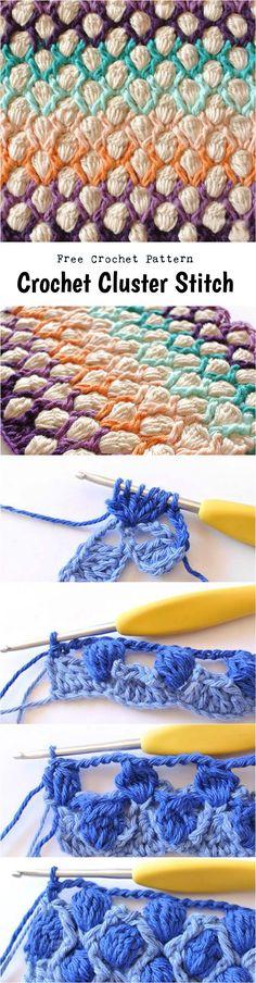 Crochet Cluster Stitch - Free Crochet Written Pattern