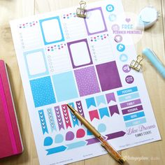 Lilac Dreams Planner Stickers |Free printable download for personal use only.