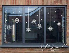 Snowflake Christmas Window Wall Stickers, Christmas Decor, Stickers, A Christmas Decals, Christmas Window Decorations, Noel Christmas, Simple Christmas, Christmas Crafts, Christmas Window Display Home, Christmas Windows, Elegant Christmas, Christmas 2019