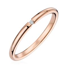 Bague  Alliance diamant or rose Paris