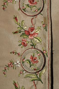 Embroidery on silk faille coat, possibly Italian, ca. 1770-80, KSUM 1995.17.183.