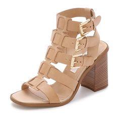 MODERN VINTAGE SHOES Orphia buckle sandals found on Nudevotion