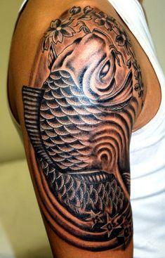 Tribal Fish Tattoos For Men's Half Sleeve Arm | Tattoosk