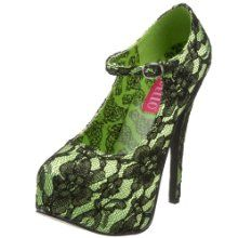 Lime Green/Black Lace by Pleaser - Giftopia Shop