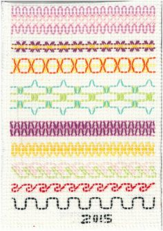 Vohvelikirjonta 6 Swedish Embroidery, Beaded Embroidery, Hand Embroidery, Diy Crafts For School, Huck Towels, Weaving For Kids, Bargello Needlepoint, Swedish Weaving, Textile Fabrics