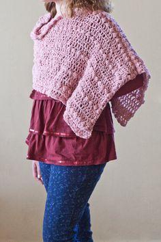 Crochet Pattern Child's Pixiebean Shawl by HiddenMeadowCrochet