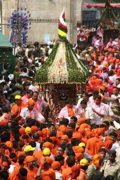 Rath Yatra means Chariot journey is a huge festival celebrated in Gujarat