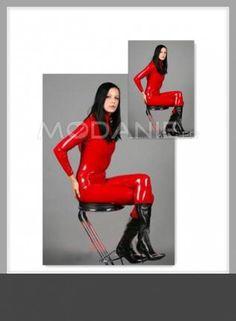 Latex costume sexy fourreau brillant complet [#M1408116603] - modanie